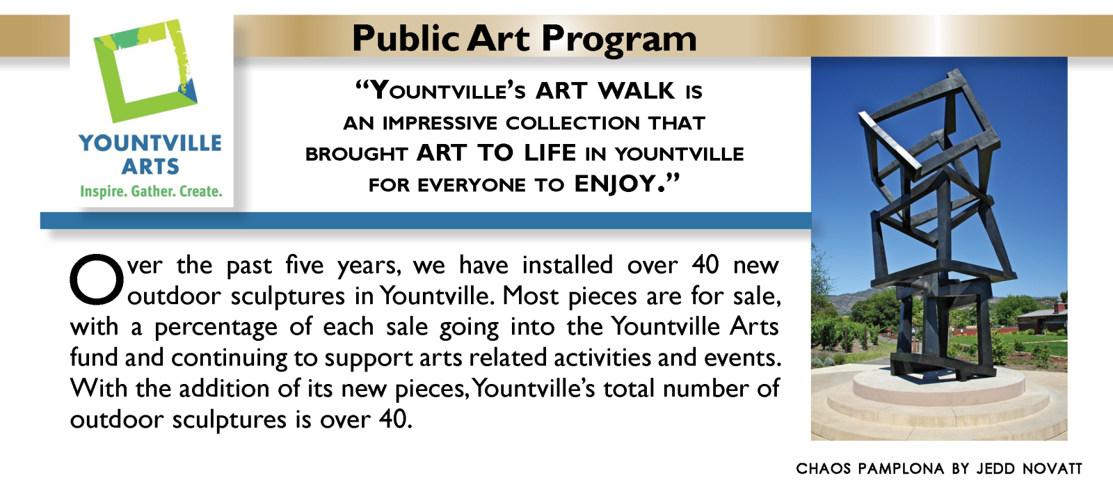 Yountville Art WALK Program Fee Fund