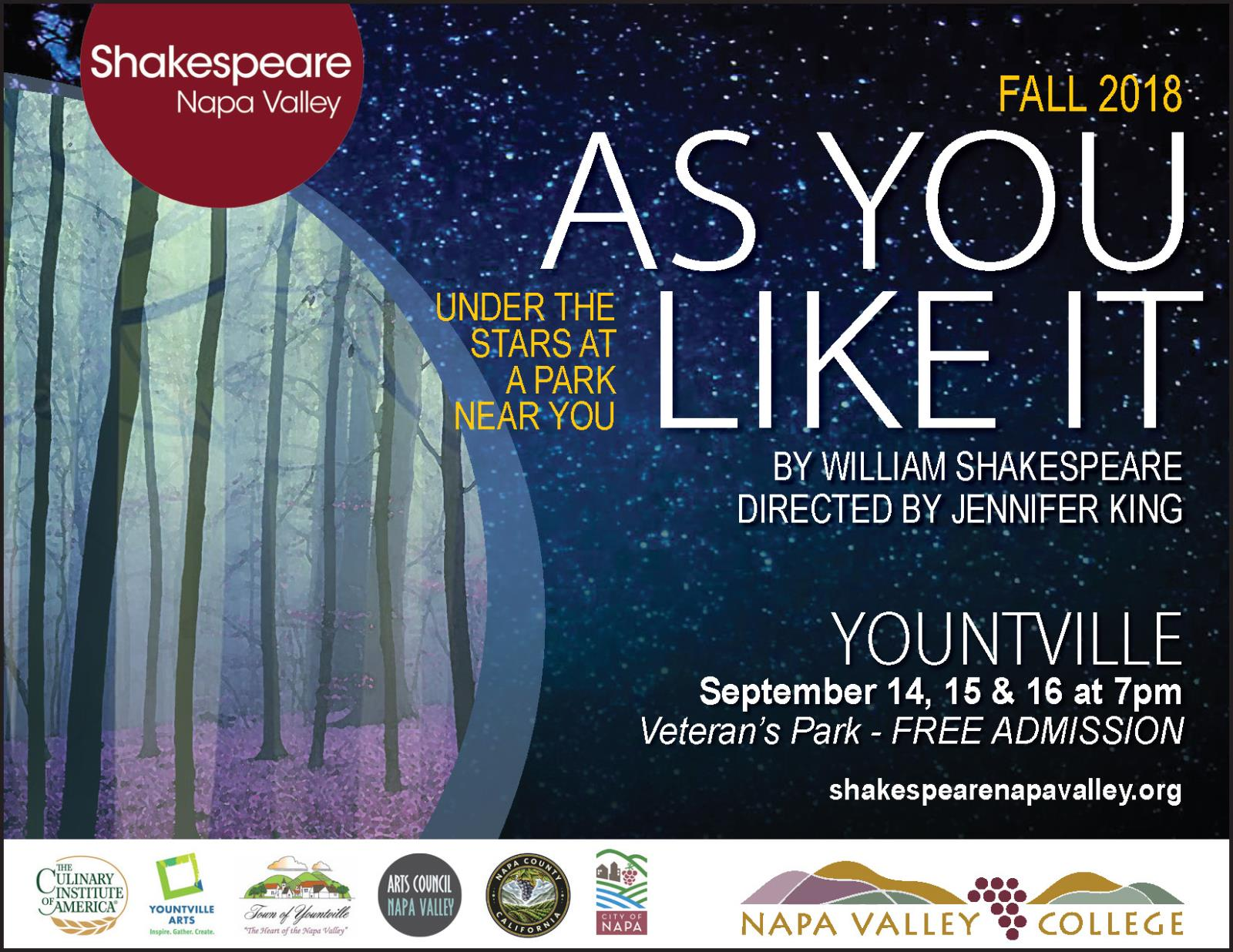 2018 Shakespeare Yountville